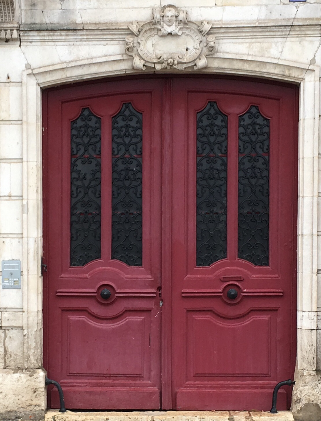 Doors in France are works of art. & The Crimson Door \u2013 La porte magenta | L o i r e D ...